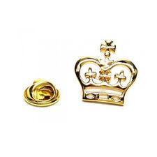 Color Oro Detallado Metal Corona Prendedor Pin royalty monarca rey y reina