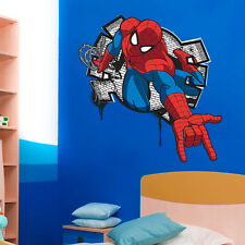 Spiderman 3D Wall Sticker Mural Art Decal Kids Girls boys gift poster Room Decor
