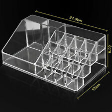 Clear Acrylic Make Up Box Organiser Cosmetic Display Brush Holder Case UK