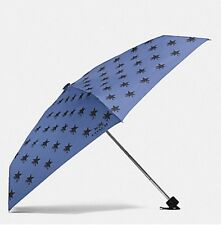 NWT Coach Star Canyon Retractable Umbrella in Cornflower Multi $85