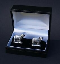 Sheep Cufflinks Gift Boxed Animal Cuff Links 3d Pewter Hand Made FREE UK POST