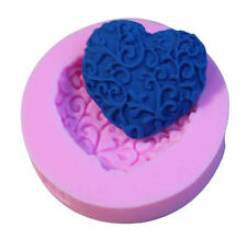 Heart with Scrolls Silicone Mold for Fondant Gum Paste Chocolate Crafts NEW