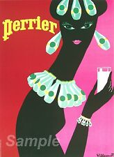 VINTAGE PERRIER ADVERTISING A2 POSTER PRINT