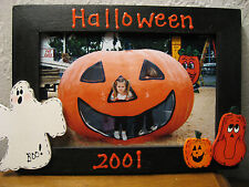 HAPPY HALLOWEEN - 2015  family holiday fun ghost pumpkin photo picture frame