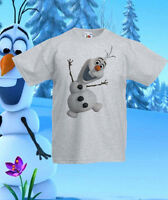 Frozen Olaf elsa Disney T-Shirt Tee Kids Princess Girls/Boys Ages 1 -13 New