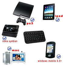 Black Slim Mini Bluetooth Wireless Keyboard For Tablet PC Cellphone