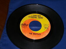 THE BEATLES-I WANT TO HOLD YOUR HAND/I SAW HER STANDING THERE-45-VG-APPLE-CANADA