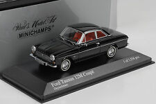 1962 FORD TAUNUS 12m COUPE BLACK NERO 1:43 Minichamps