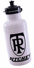 """RITCHEY"" MTB/ANY BIKE WHITE PLASTIC CYCLING WATER BOTTLE WITH FLIP LID  50% OFF"