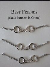 6 Handcuff Partners ( In Crime) Bracelets  BFF Pendant