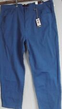 MENS RIVER ROCK 48 X 32 SEA BLUE JEANS Straight Leg colored