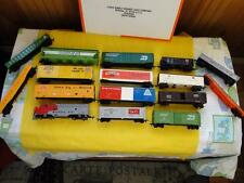 Model Train Lot ~ Bachmann Engine ~ 9 Cars ~ 2 Hoppers ~ Flatbed Parts or Repair