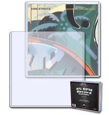 (Pack Of 25) BCW 45 RPM Record Single Album Toploader - Topload Case Holder