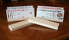 **Hand Made by Me** 2014 Set of 4 Playing Card Holders  **Made In The USA**