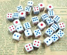 Lot of 10 Standard Plastic White 12mm Game Dice Die Casino Bar