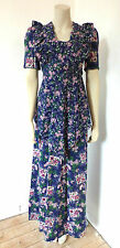 Vintage 1970s 70s Prairie Hippy Boho Maxi Dress UK Size 8 - 10 Handmade