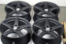 17 5x114.3 Matte Black Wheels Fits Caliber Honda CrV CrZ Element TSX Lancer Rims