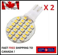 2 X  White T10 24SMD LED 1210 Dome Lamp Reading Trailer For VW Interior Audi