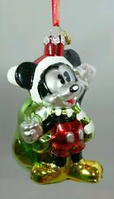 MICKEY MOUSE Santa CHRISTMAS Sketchbook Glass Ornament DISNEY Store 2015 Gift