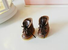 Handmade Dark Brown Leather Shoes for Blythe Neo Doll