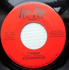 K & D BOOTERY Co 70's? garage 45 Beatles BIRTHDAY Don't let the sun N-MINT e9046