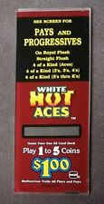 IGT PE+ Players Edge Slant Top Slot Machine Side Glass WHITE HOT ACES Play $1