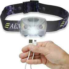 Head Lamp Flashlight USB Rechargeable Bright for Running Walking Camping Reading