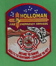 HOLLOMAN AIR FORCE BASE NEW MEXICO FIRE RESCUE PATCH