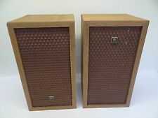 Pair of Vintage Used Wood Case Kenwood 060358 Plug Speakers Parts Home Audio