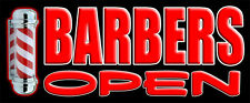 BARBERS SIGN BANNER OUTDOOR SIGNS SHOP VINYL BANNERS PVC