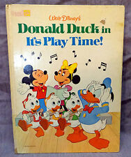 Walt Disney's DONALD DUCK IN IT'S PLAY TIME! ~ 1980 hardcover ~ rare Golden Book