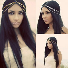 Gold&Silver Metal Rhinestone Chain Womens Jewelry Headband Hair Bands Head Piece