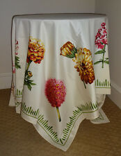 """NWOT Pierre Frey Yves Delorme Square Cotton Tablecloth Large Flowers 69"""""""