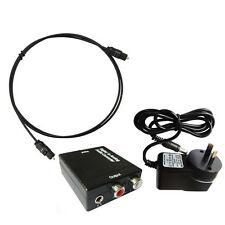XUU Digital to Analog Audio Converter Toslink Cable Optical to L/R RCA Analogue