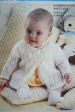 Baby Cardigan/Matinee Coat/Jacket Knitting Pattern