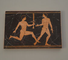 Nude Ancient Greek Olympic Games runners athletes plaque FRESCO reproduction
