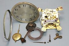 Complete Vintage Brass Mantle Clock Key Hand Steampunk Chime Steam Punk Movement