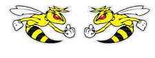 2x Angry Bee Sticker Decal Car Ski-Doo America Patriots ATV Bike Hornet Wasp BMX