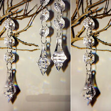 10Pcs Acrylic Crystal Bead Hanging Strand Trees Wedding Centerpiece Venue Decor