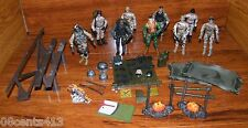 LOT OF 12 Toy GI Soldier Action Figures With Guns, Helmets, Back Packs, & More!