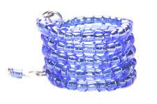 Enchanting-Azul eléctrico del remolino hasta 5 Anillo De Mano Pilas con cuentas (Zx89/114)