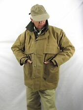 Filson Tin Cloth Packer Coat Water Resistant Wool Lined Snap Men's 42  WOR