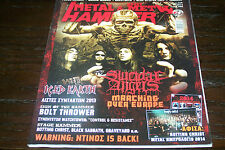 METAL HAMMER MAGAZINE 1/2014 SUICIDAL ANGELS ICED EARTH BOLT THROWER