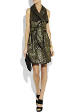 Party Smarty: Thread Social Gold & Black Jacquard Trench Dress US4/UK8
