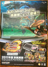 Monster Hunter 3rd portátil Raro PS3 51.5 cm X 73 Cm Cartel Promo japonés #2