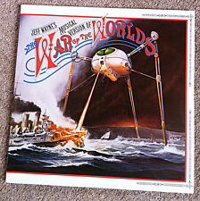 JEFF WAYNE SIGNED Double LP VINYL With Booklet WAR OF THE WORLDS Musical Version