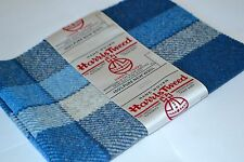 HARRIS TWEED FABRIC & LABEL 100% wool tartan herringbone craft patchwork sewing
