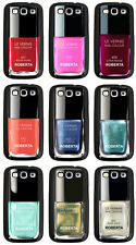 Cover per Samsung Galaxy S3 smalto per unghie con il tuo nome, scegli il colore!