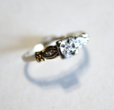 Antique 14k Yellow and White Gold Engagment Ring Size 7.25