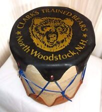 """Vtg TOY   DRUM Clark's Trained  BEARS Woodstock New Hampshire  5 1/4"""" Tall"""